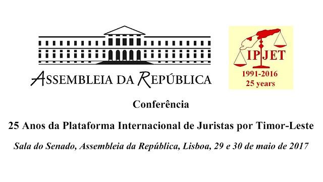 Conferência 25 Anos da Plataforma Internacional de Juristas por Timor-Leste - a autodeterminação de Timor-Leste e o caso do Sahara Ocidental