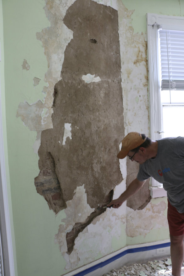 Restoring Plaster Walls Bringing Stephanie S Room Back To