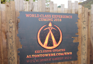 Sign For Wicker Man Roller Coaster