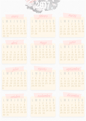 freebie calendarios 2017 descargables imprimibles