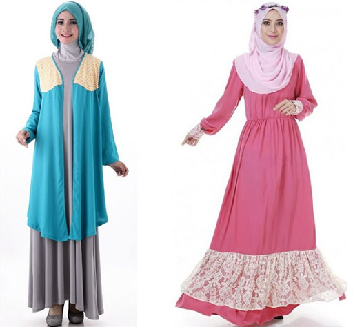 gaun pesta muslim simple elegan terbaru 2017/2018