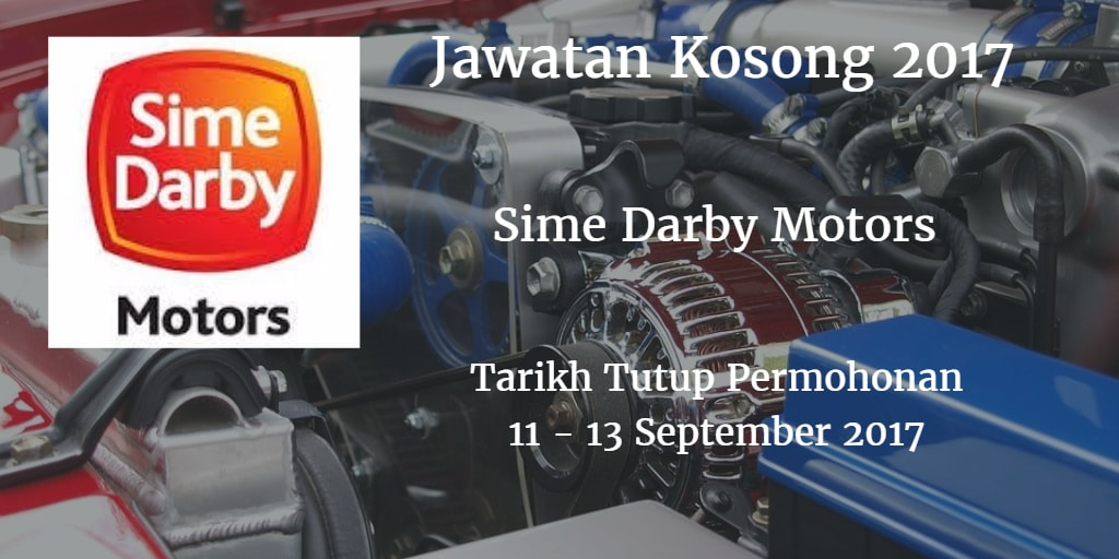 Jawatan Kosong Sime Darby Motors 11 - 13 September 2017