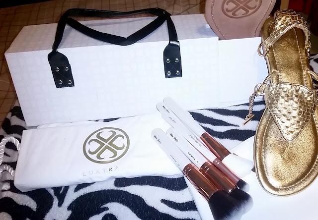 luxtrada, kaylas vibrations, beauty widget, makeup brushes, sandals, blogger, fashion, collaborations