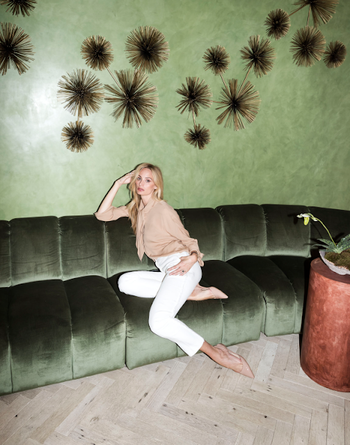 Lauren Santo Domingo in her new Moda Operandi space from inside the December Issue. Photo: Architectural Digest