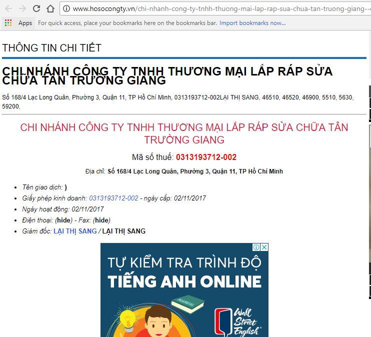 Tố cáo địa chỉ Số 168/4 hoặc 170 Lạc Long Quân, P. 3, Q. 11, HCM bán máy tính, laptop lừa đảo