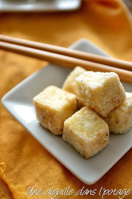 Tofu frit sel-poivre  cuisine asiatique