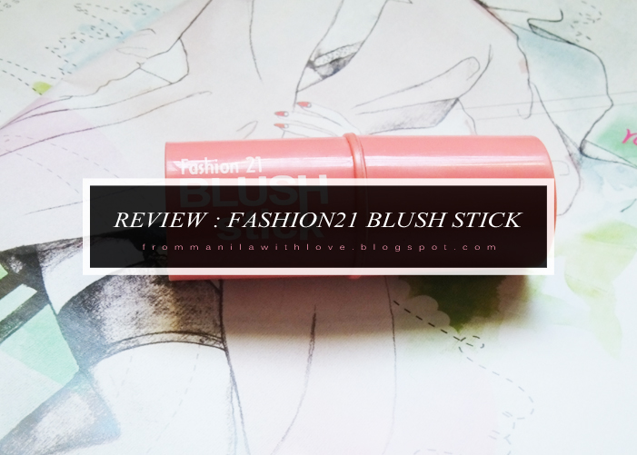 Fashion21 blush stick cream blush review