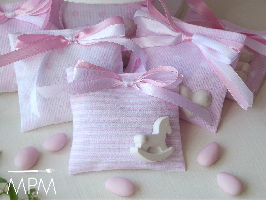 Bomboniere bianche e rosa