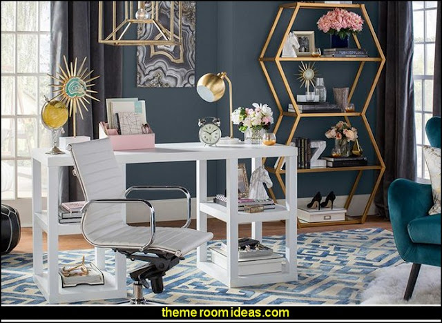 office furniture - office decorating - study desk - den furniture -  office chairs - home office design - Organizing your Home Office - Bookshelves - office supplies -