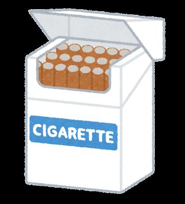 タバコの箱のイラスト