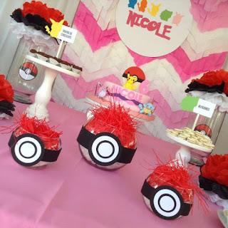 ideias decoração Festa Pokemon