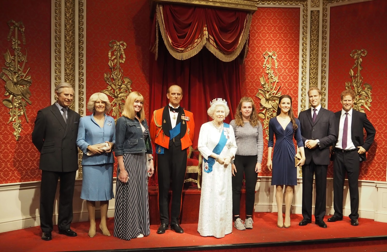 The British Royal Family at Madam Tussauds, London