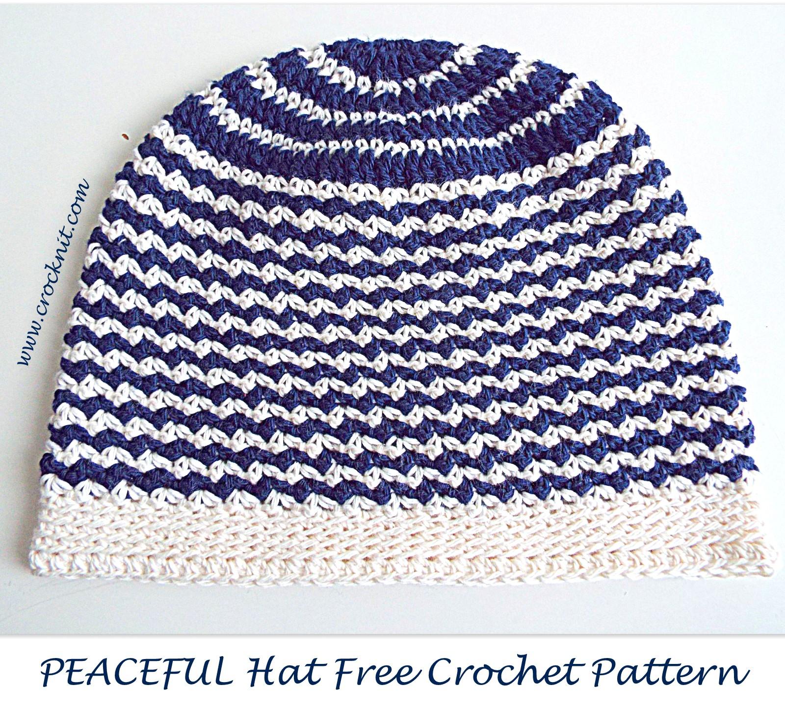 MICROCKNIT CREATIONS: SLEEP Hats Free Crochet Pattern #3 PEACEFUL HAT