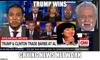CNN, crying news network, Trump Wins the 2016 Election,
