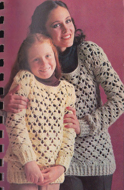 The Vintage Pattern Files: Free 1970's Crochet Pattern - Lacy Pullover
