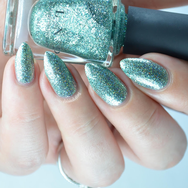 mint metallic nail polish
