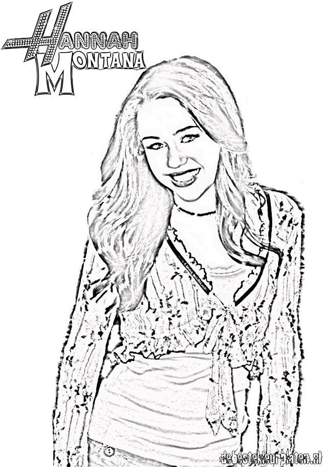Desenhos Da Hannah Montana Para Imprimir E Colorir
