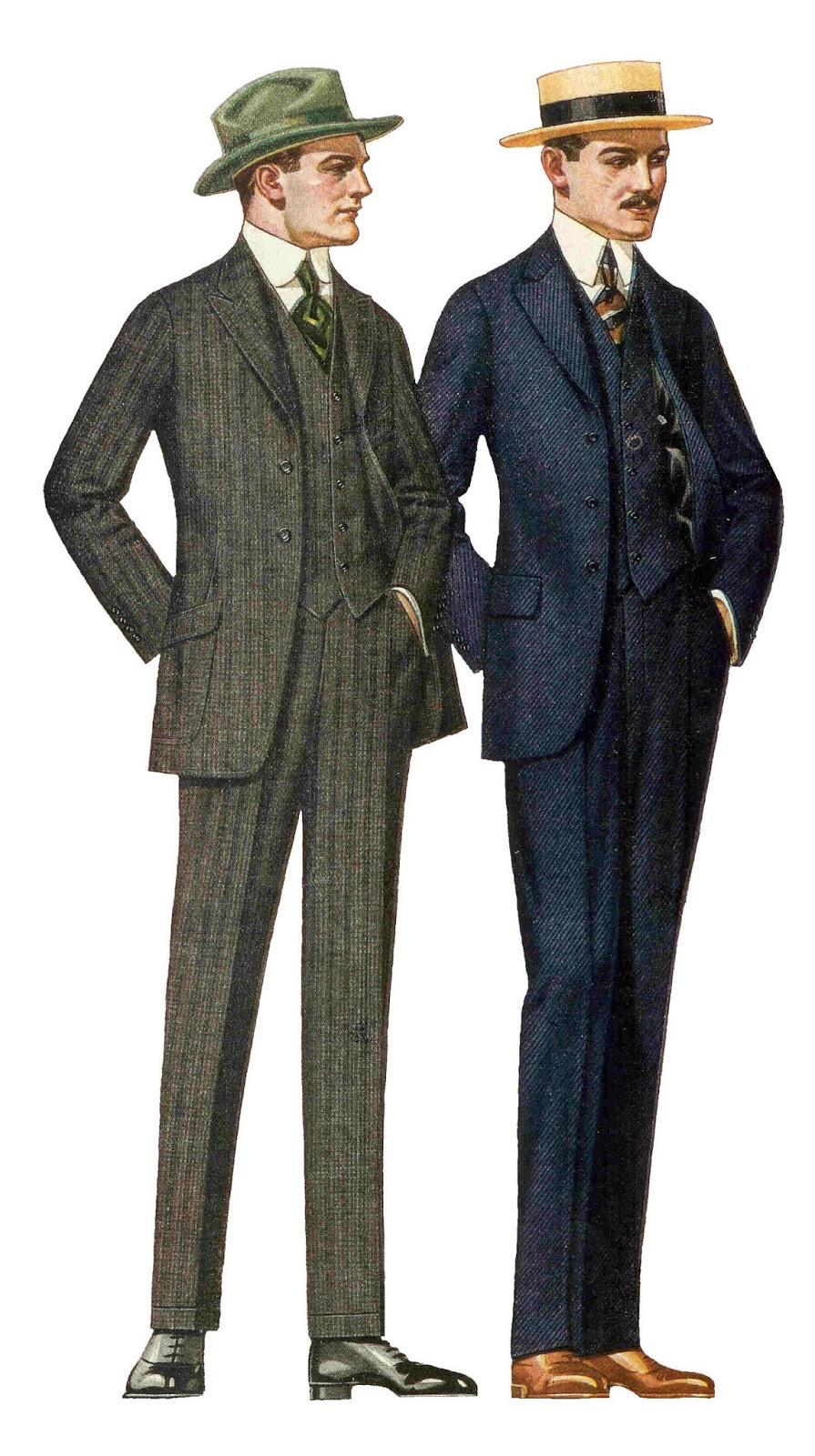 Free Fashion Clipart: Antique Images: Free Fashion Stock Image: Vintage Father's