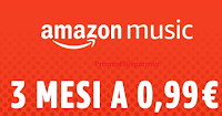 Logo Amazon Music : per te 3 mesi a soli 0,99 €uro