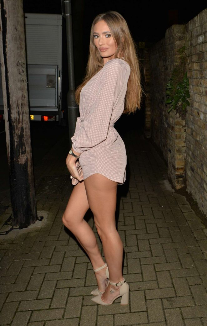 Georgie Clarke – Arrives at Beaufort House Restaurant in London