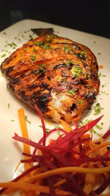 Tandoori Pomfret fish in Oasis restaurant