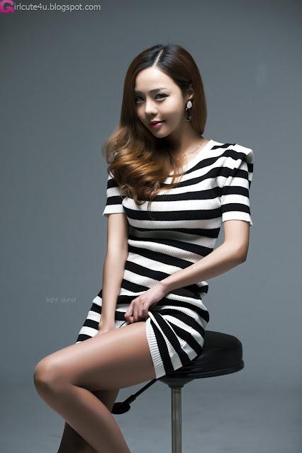Bad Cute Seo Jin Ah In Black And White Mini Dress