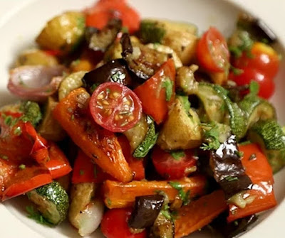how to make roasted vegetable salad at home
