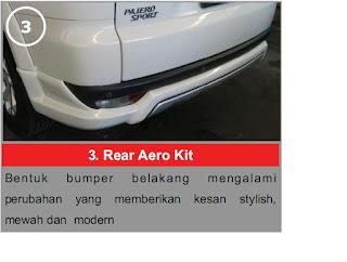 Rear Aero Kit Pajero Limited