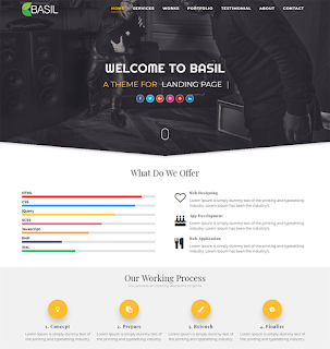 Template bisnis BASIL BLOGGER TEMPLATE.
