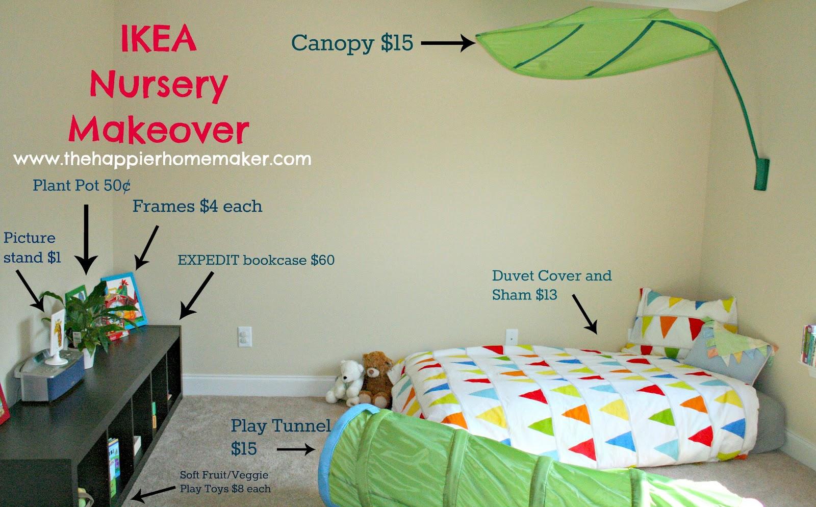 ikea nursery reveal the happier homemaker. Black Bedroom Furniture Sets. Home Design Ideas