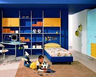 Desain Kamar Tidur Anak Laki-laki Sederhana dan Simpel