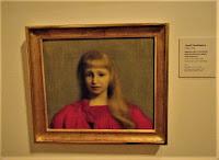 Józef Pankiewicz - Portret dziewczynki w czerwonej sukience 1897
