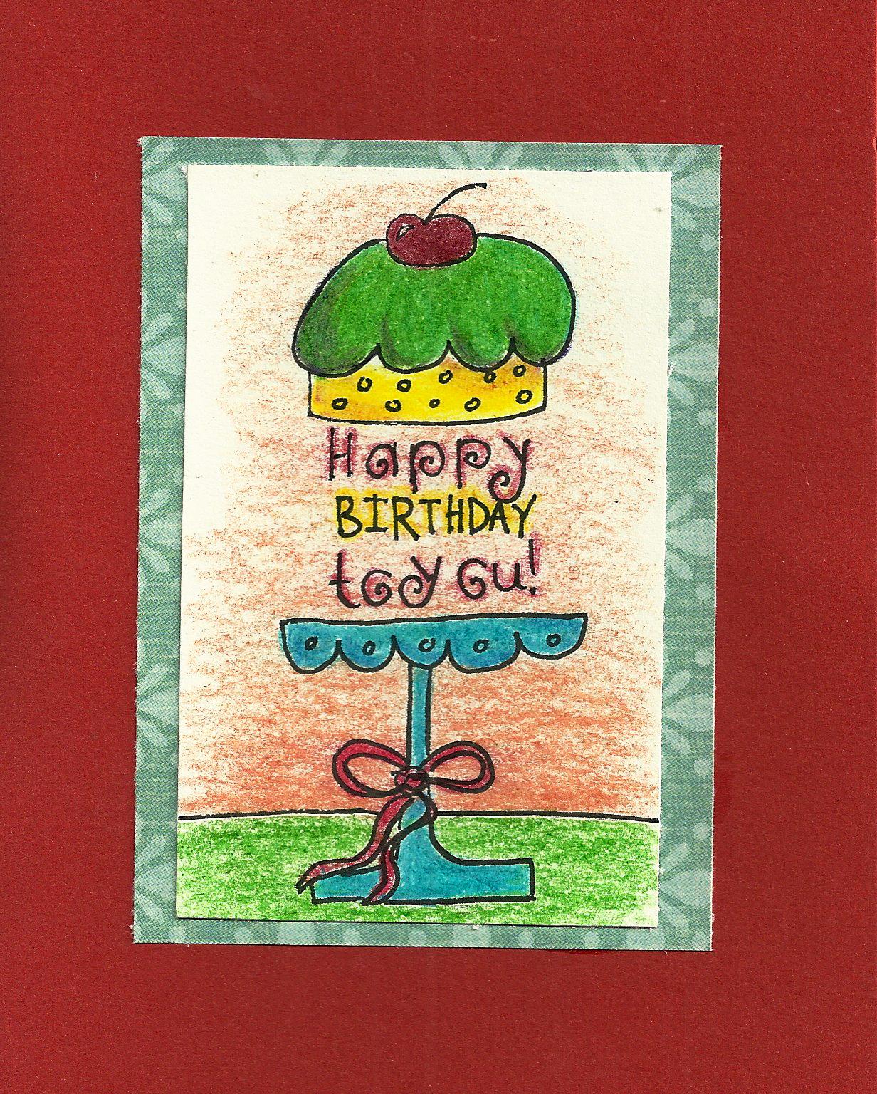 Debbie Dots Greeting Card Blog: Cake Stand Birthday