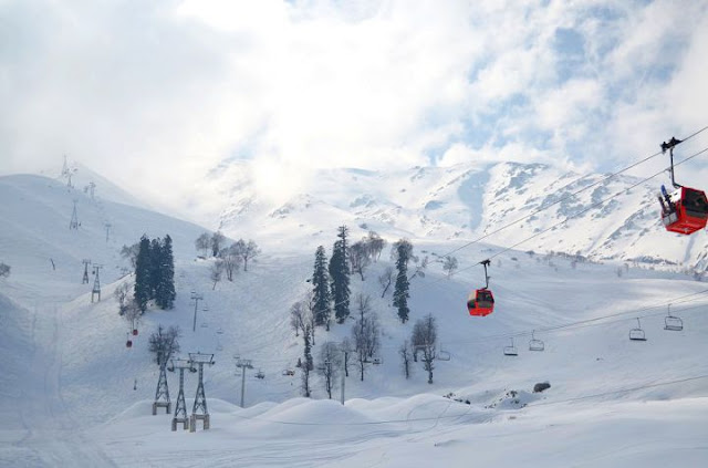 Gulmarg: Bird's eye view from Gondola