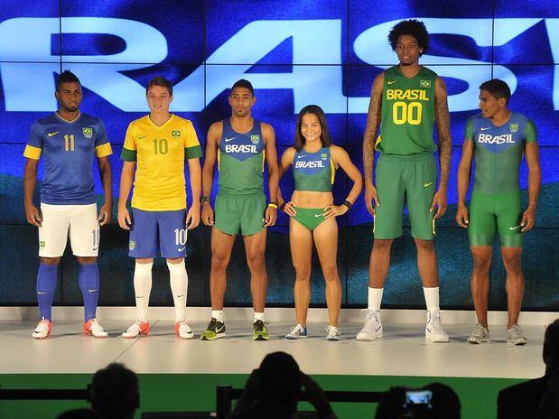 c176ee889 O Comitê Olímpico Brasileiro (COB) lançou quinta-feira (12) os uniformes  oficiais que serão utilizados pelo Brasil na Olimpíada de Londres.