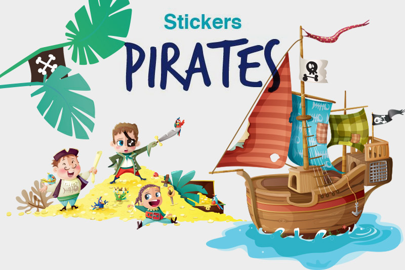 Stickers pirates kmiep decoloopio