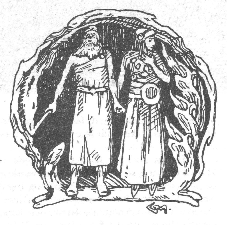 Ingjaldur the Mad and his daughter, Asa hin Illradha