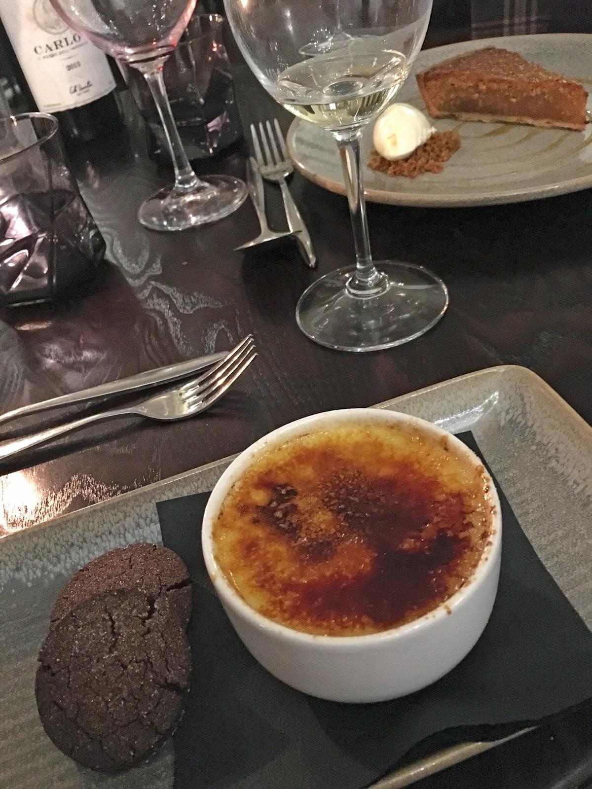 Prime restaurant, Stirk House, Gisburn,creme brulee dessert