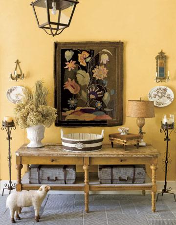Ben Moore, York Harbor Yellow #2154-40 Living Room and Main Bath