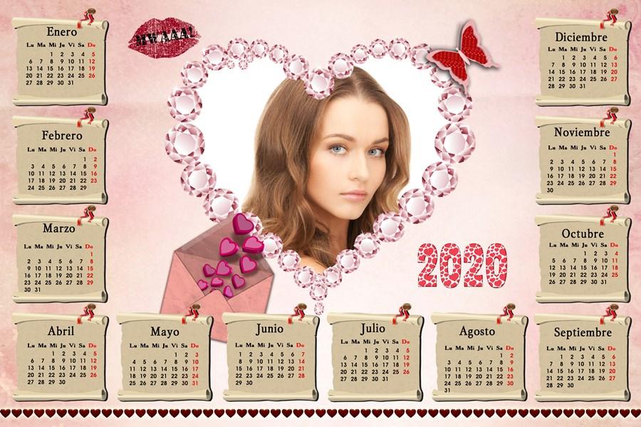 Calendario Belen 2020.Recursos Photoshop Llanpac Calendario Romantico Del 2020