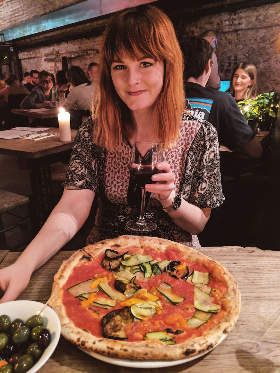Mother London are happy to adapt their vegetarian pizza to make it vegan by removing the cheese