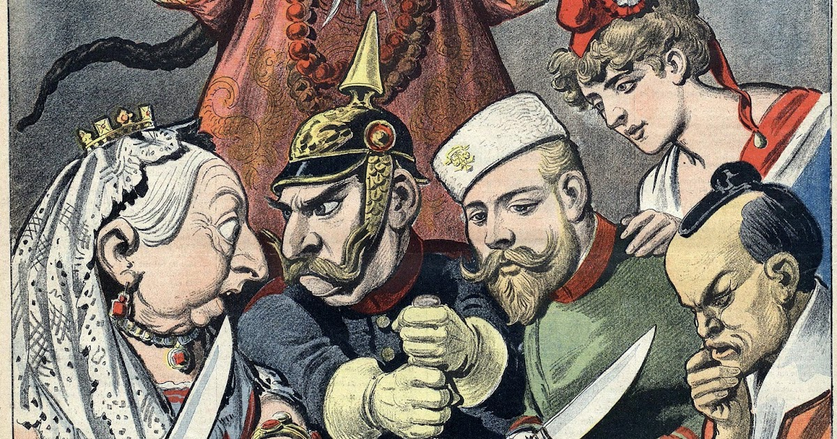In The Late 19th Century, China Was Divided Like A Pie Between Imperialist Powers