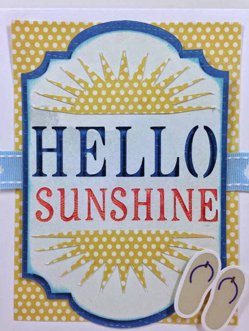 Close To My Heart Artfully Sent Hello Sunshine card closeup
