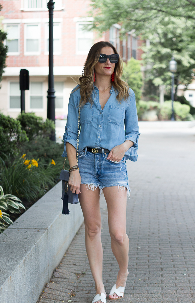 Denim on Denim #summerstyle #chambray