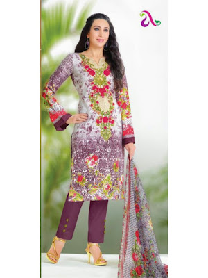 Pakistani Style Pure Lawn Cotton Salwar Suit