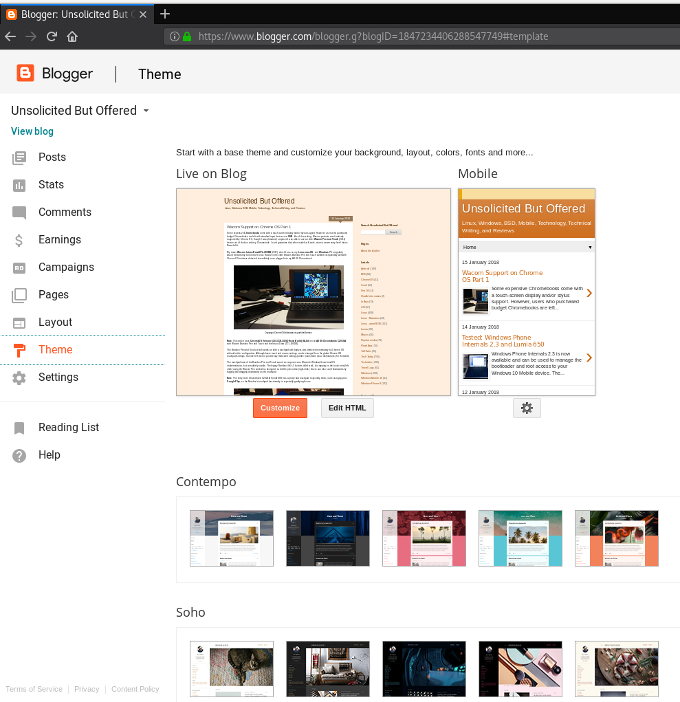 notes on blogger dynamic views and unsolicited but offered rh unsolicitedbutoffered blogspot com