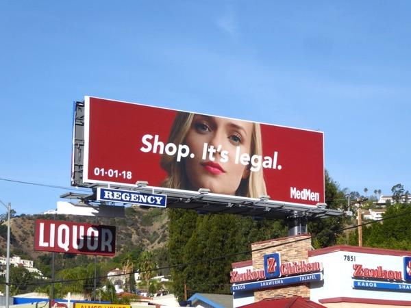 Shop Its Legal MedMen billboard