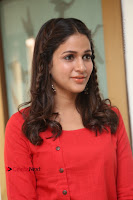 Actress Lavanya Tripathi Latest Pos in Red Dress at Radha Movie Success Meet .COM 0162.JPG