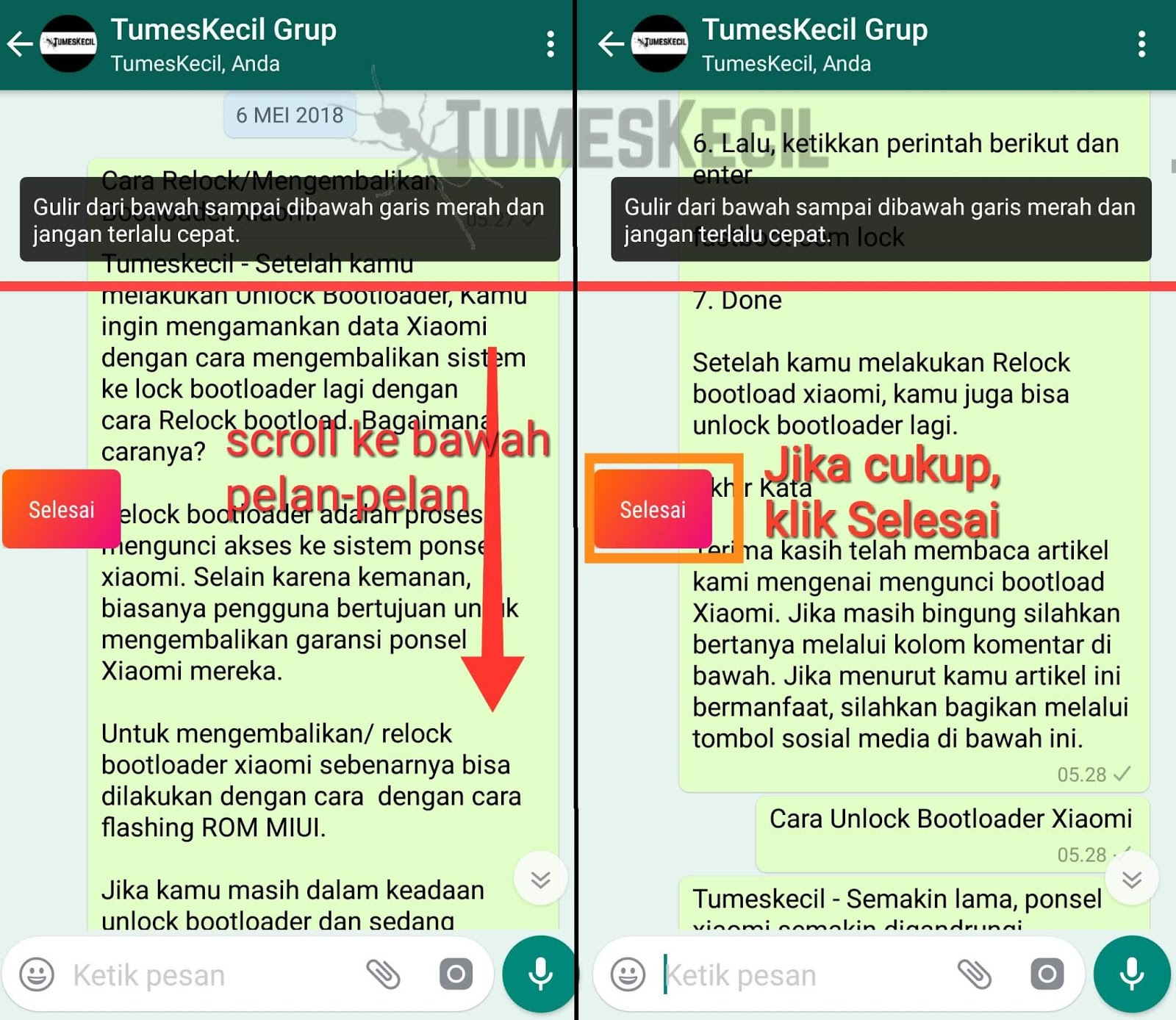 cara screenshot panjang di whatsapp