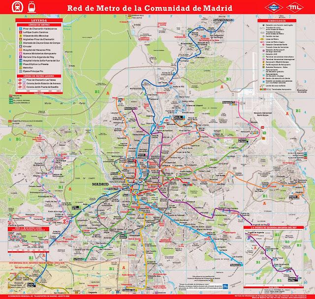 Mapa do metrô de Madri